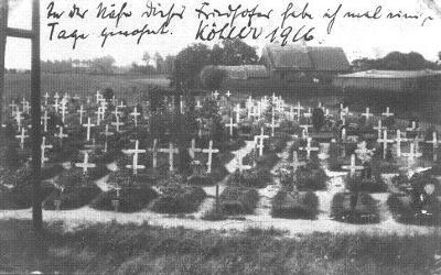 Duitse militaire begraafplaats, 1916
