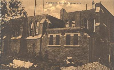 Opbouw van nieuwe kerk, Slypskapelle
