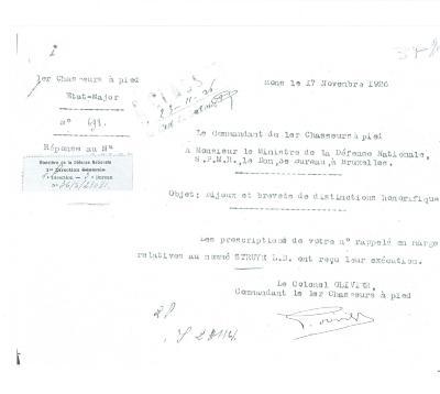 Correspondentie kolonel - Defensie