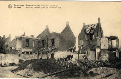 Huizen in puin in de wijk Barnum