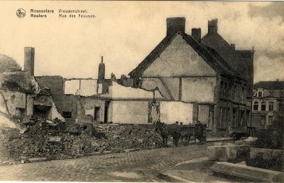 Huizen in oorlogspuin