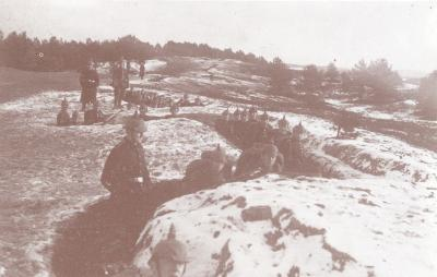 Loopgraven van 4de Duitse Leger vóór Ieper