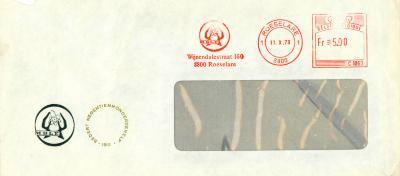 Briefomslag MBLE, Roeselare, 1973