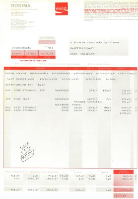 Creditnota van NV Rodima, Roeselare, 1964