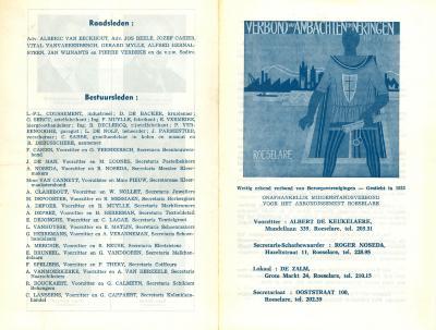Promotieflyer verbond van ambachten en neringen, Roeselare, 1963