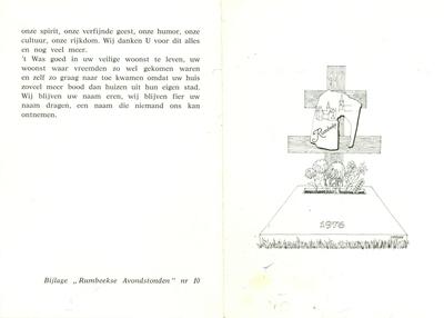 Aandenken gedwongen fusie Rumbeke met Roeselare, 1977