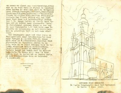 Maria Congregatie St Henricus naar Mariaspel te Halle, Rumbeke, 1946