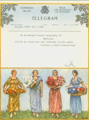 Huwelijkstelegrammen voor de familie Hoornaert-Rommel 2