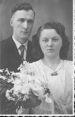 Huwelijksfoto Georgette Soenens