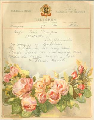 Huwelijkstelegrammen voor de familie Goethals-Verheye 2