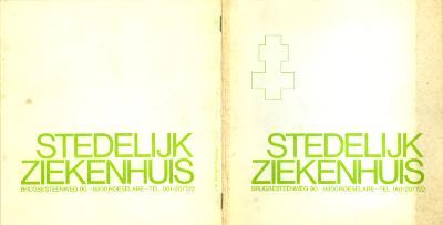 Informatiebrochure over het Stedelijk Ziekenhuis, Roeselare, jaren 1980-1990.