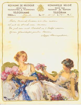 Huwelijkstelegram verzonden door Seppe Desimpelaere