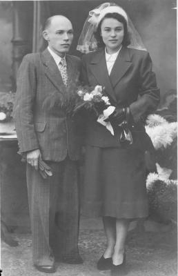 Huwelijksfoto Arthur Coppens en Antoinette Verlinde