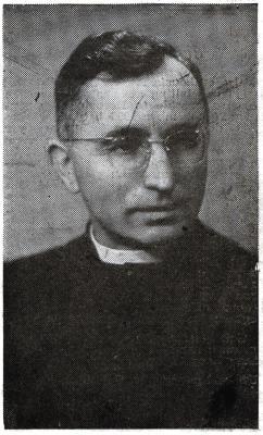 Bidprentje  ter herinnering aan de aanstelling van pastoor P. Vercruysse, Roeselare, 1955