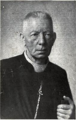 Bidprentje  ter herinnering aan gulden priester jubileum van Leopold Demonie, Roeselare, 1944