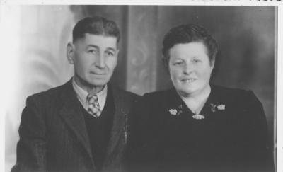 Huwelijksfoto Jules Detailleu en Marie Devos