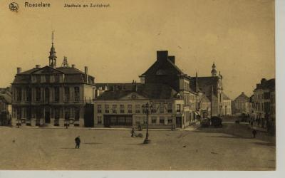 Roeselare ' Stadhuis en Zuidstraat'