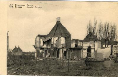 Huizen in puin