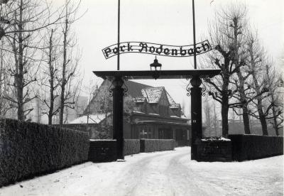 Park Rodenbach in de sneeuw, jaren 1960