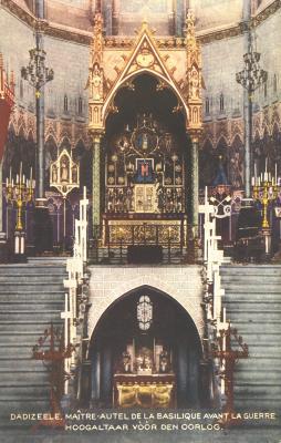 Hoogaltaar Basiliek, Dadizele, vóór de oorlog