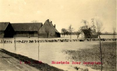 Overstroming hoeve Deruyter, 1925
