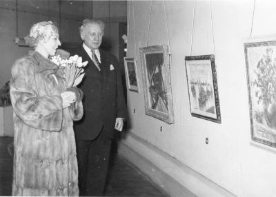 Koningin Elizabeth en Alfons Blomme, 1959