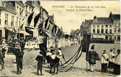Processie Sacramentsdag Grote Markt, ca. 1900