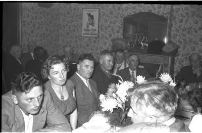 Viering 50 jaar 'spoorders': feestmaal, Izegem 1957