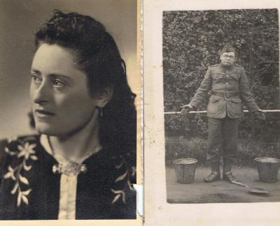 Maria Viaene en echtgenoot Frans Verbeke, 1919