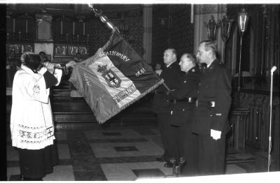 Vrij Brandweerkorps Izegem: wijding vlag, Izegem 1957