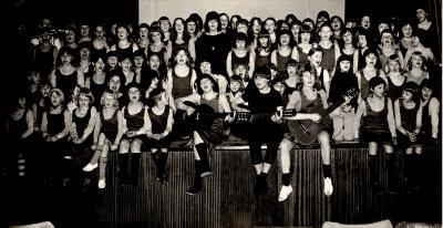 Chiromeisjes groepsfeest, Hooglede, 1979