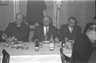 Wielerclub Verenigde Sportvrienden: feestmaal, Emelgem 1958