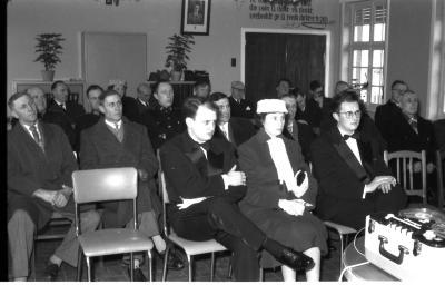 Huldiging Saelen: publiek in zaal, Kachtem 1958