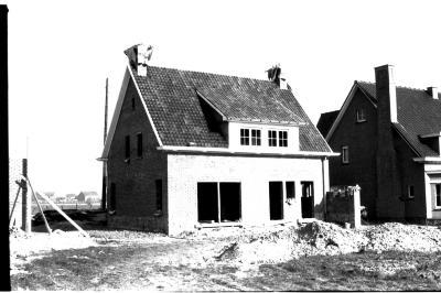 Huis in opbouw, Izegem 26 maart 1958