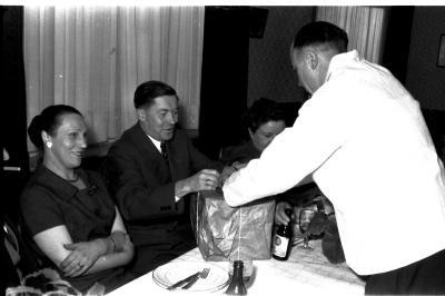 Huldiging café 'De Sterre': feestmaal, Izegem 1958