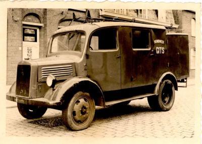 Brandweerwagen, Hooglede-Gits, 1950