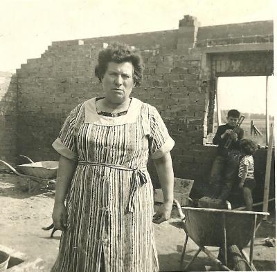 Bouw van een huis op de Grijspeerd, Gits, 1967